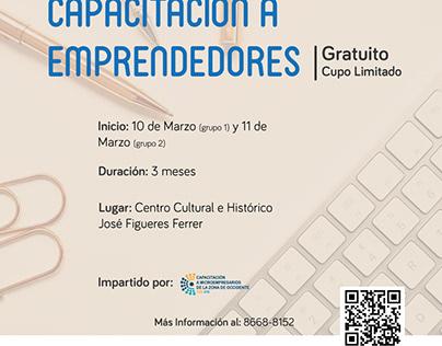 Promoción de Capacitaciones a Emprendedores