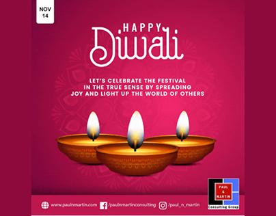 Diwali animated social media post
