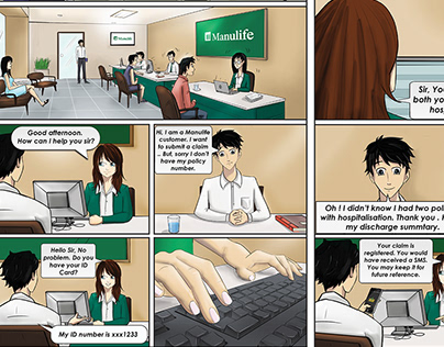 Comic Illustrations for Manulife