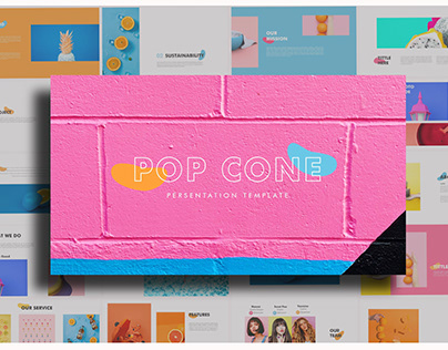 Pop Cone - Full Color Powerpoint