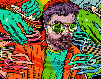 Illustrations for Bandcamp Weekly