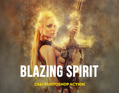 Blazing Spirit Photoshop Action