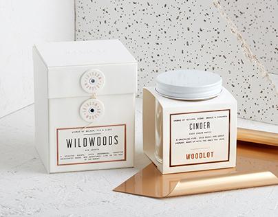 Woodlot Candle Packaging Design