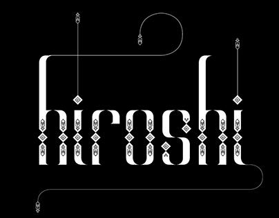Alt Hiroshi Typeface