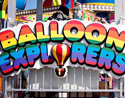 """Balloon Explorers"" Ride Signage, Playland"