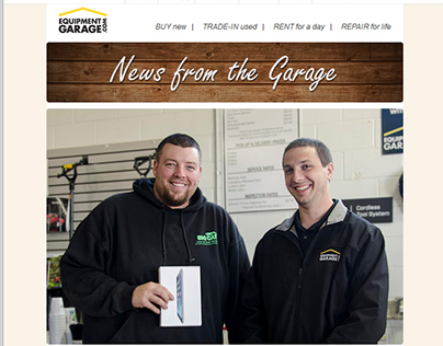 Responsive Email Newsletters - Equipment Garage
