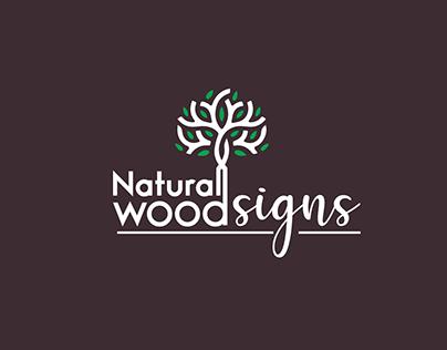 Natural wood signs logo