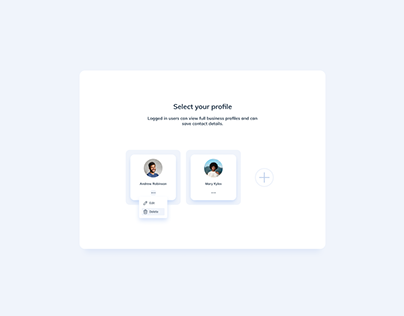 Day 1464・Select Account UI Design