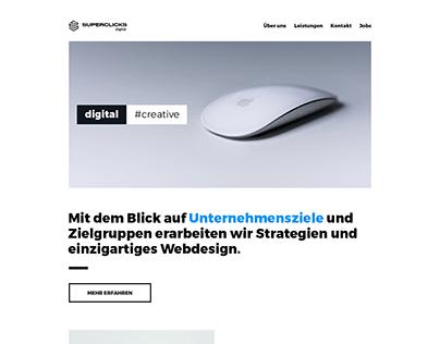 Creative Agency Website UX Design