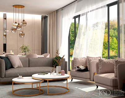 KSD-project. Living room and kitchen for a home