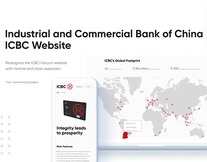 ICBC Bank Website Redesign
