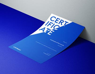 Contrado   Certificate Design