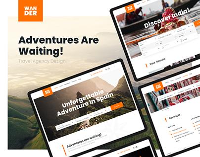 UI/UX design for travel agency Wander
