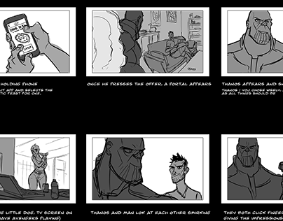 PIZZA HUT/MARVEL : Storyboard