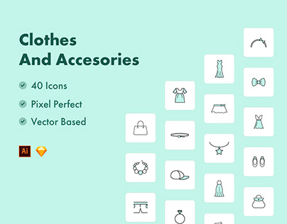 Clothes & Accessories Icons