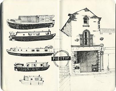 Barnoldswick to Leeds. Narrowboat trip studies