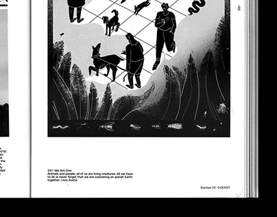 illustration for slanted 36 COEXIST