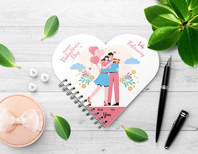 Valentine's Day Heart Notepad Design