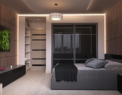 Interior design in little bedroom