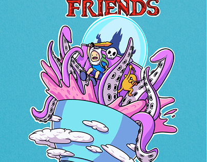 Real friends X Adventure Time