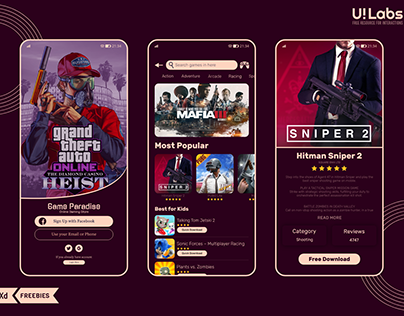 Android Game Store Mobile UI
