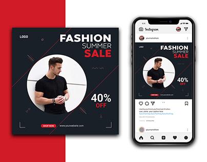 Fashion Sale Instagram Banner Design