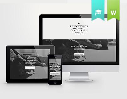 Voskins | High end Eyewear responsive website