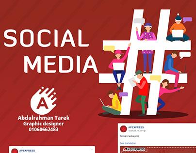 Social media & Facebook cover forAPEXPRESS