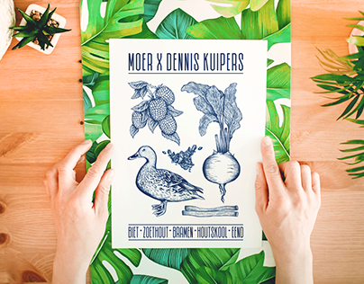 MOER X Dennis Kuipers - Culinary Illustration