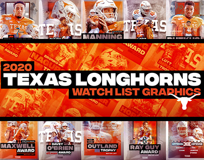 2020 Texas Longhorns Watch List Graphics