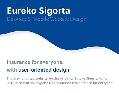 Eureko Sigorta Website Design by SHERPA