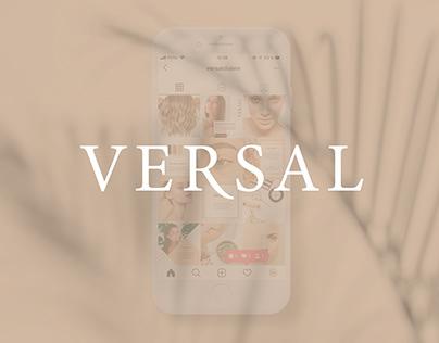 Оформление профиля инстаграм для клуба красоты Versal
