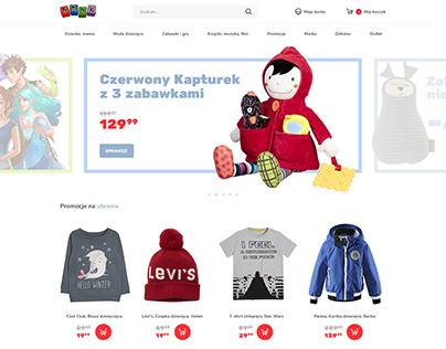 Smyk.pl - site redesign