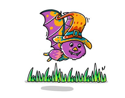 Bat Cartoon Halloween Character and Animation