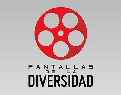 """Logo+iso ciclo de cine """"Pantallas de la diversidad"""""""