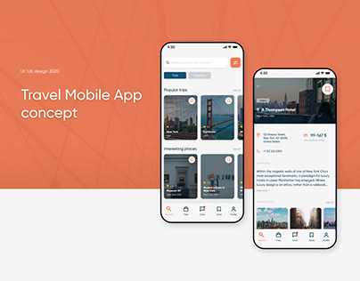 Travel Mobile App concept