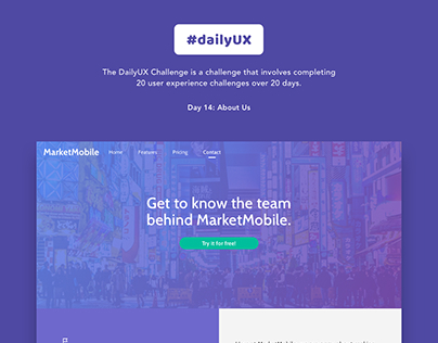Daily UX 14 | About Us Page