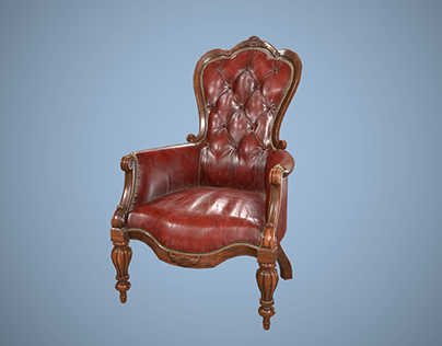 Victorian armchair game asset