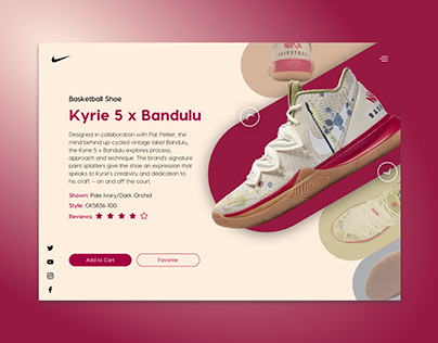 Concept product page for Nike