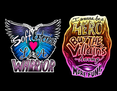 Illustrated Lyric T-shirts for Beth Crowley