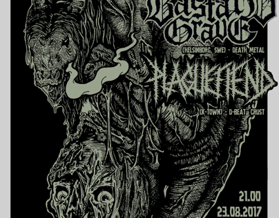 Insane,plugified,bastardgrave gig poster