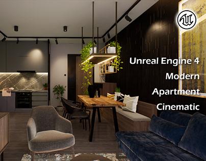 Unreal Engine 4 Modern Apartment Evening Cinematic