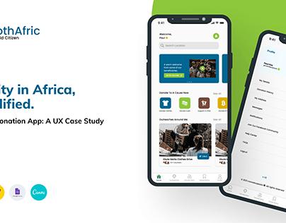 ClothAfric - Clothes Donation App: A UX Case Study