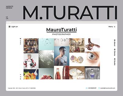 Mauro Turatti Website - UI/UX
