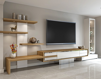 Table & TV unit - CGI