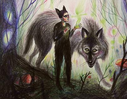 Drawlloween - Werewolfs wandering into the Forest