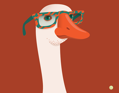 Animal Fashion | G is for Gorgeous Goose in Glasses