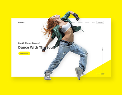 Dance Institute Landing Page