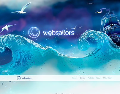 """Redesign of corporate logo and website """"Websailors.pro"""