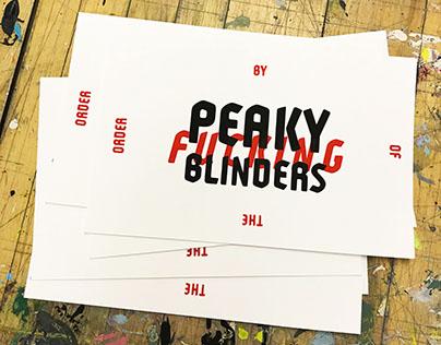 Peaky Blinders - Screen Print